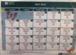 May lunch Calendar!